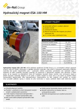Hydraulický magnet ESA 100 HM - On