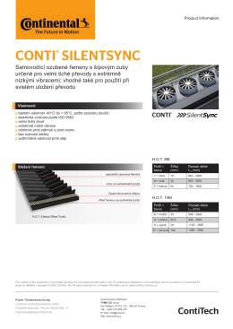 Katalogový list řemenů CONTI SILENT SYNC
