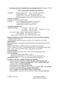 Vyšší odborná škola a Střední škola automobilní, Zábřeh, U Dráhy 6