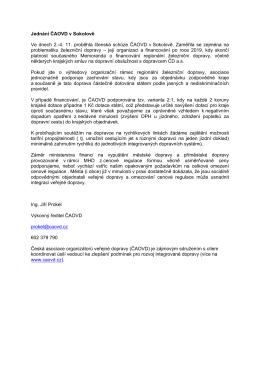 Stáhnout PDF - ČAOVD - Česká asociace organizátorů veřejné