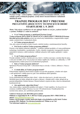 TRAINEE PROGRAM 2015 V PRECIOSE