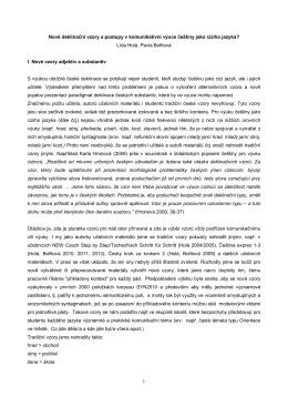 Nové deklinační vzory a postupy v komunikativní výuce češtiny jako