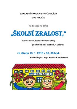 plakát – připravenost pro školu
