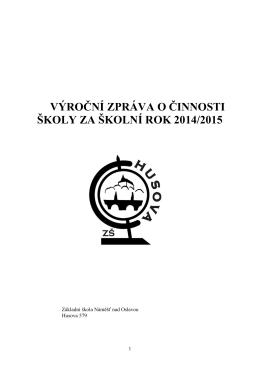 Výroční zpráva 14-15 - Základní škola Náměšť nad Oslavou, Husova