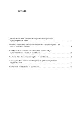 Ljubomír Drápal: Smrt zaměstnavatele a přechod práv a povinností z