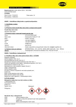 Bezpečnostní list CITOSOL - CITO