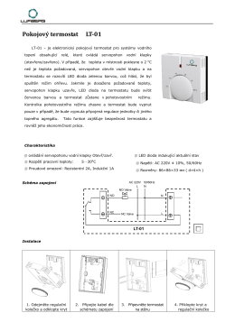 Pokojový termostat LT-01