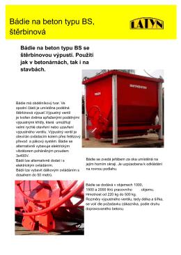 Bádie BS - Tusch.cz