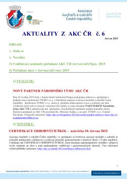 Aktuality z AKC ČR č. 6