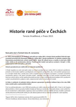 Historie rané péče v Čechách