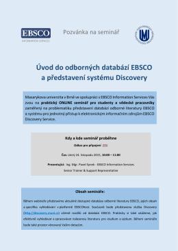 Úvod do odborných databází EBSCO a představení systému