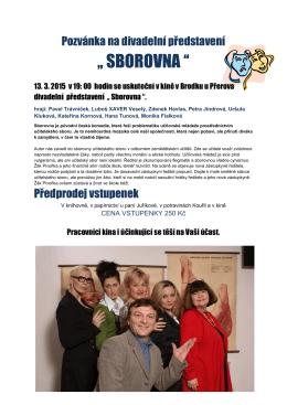 Pozvánka na divadelní představení - knihovna-kino