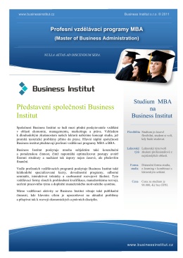 Představení společnosti Business Institut