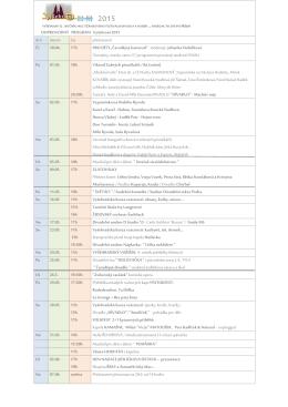 DOPROVODNÝ PROGRAM Vyšehraní 2015 den datum čas