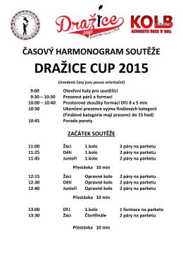 časový harmonogram soutěže dražice cup 2015