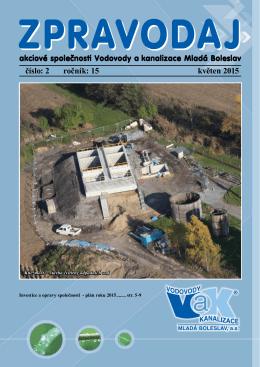číslo: 2 ročník: 15 květen 2015 - Vodovody a kanalizace Mladá