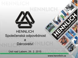HENNLICH CZ www.hennlich.cz