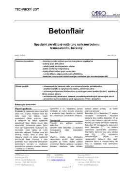 Betonflair - CAPRO spol. s ro