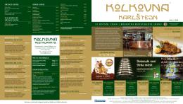 Jídelní lístek - Golf Resort Karlštejn