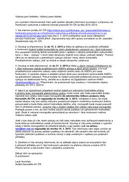 5.3.2015 Aktuální informace - Intranet Matematického ústavu AV ČR