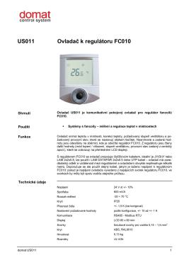 US011 Ovladač k regulátoru FC010