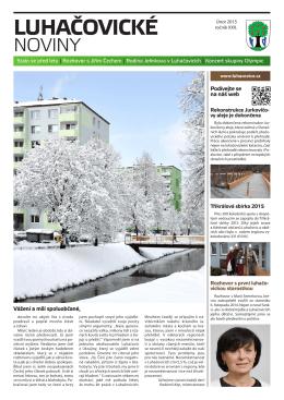 Únor - Město Luhačovice
