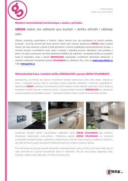 GRENA nabízí vše viditelné pro kuchyň – dvířka