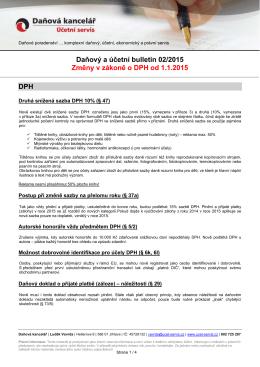 Daňový bulletin 2015 - DPH