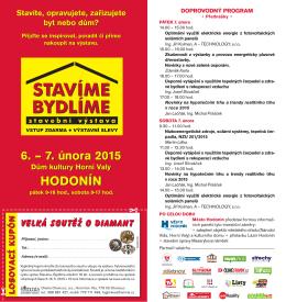 Pozvánka na výstavu Stavíme Bydlíme Hodonín 2015