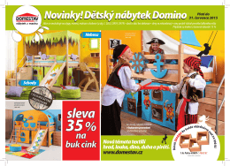 Novinky! Dětský nábytek Domino