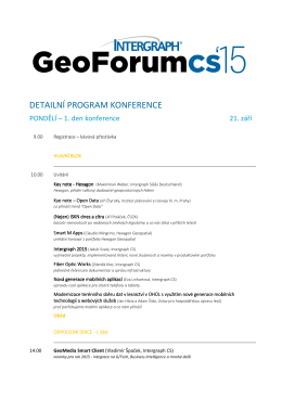 Program na web - GeoForum CS 2015