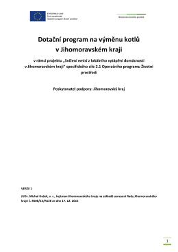 Dotační program na výměnu kotlů v Jihomoravském kraji