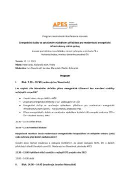 programu konference - APES - Asociace Poskytovatelů