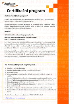 Certifikační program