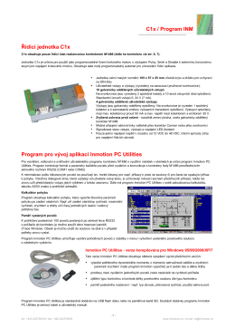 C1x / Program INM Řídicí jednotka C1x Program pro