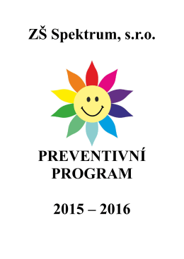 Preventivní program školy 2015