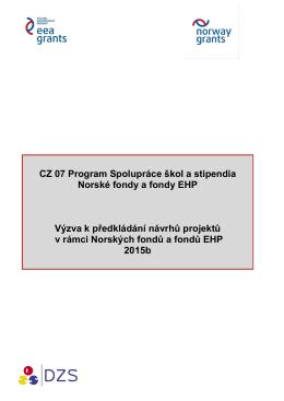 CZ 07 Program Spolupráce škol a stipendia Norské fondy a