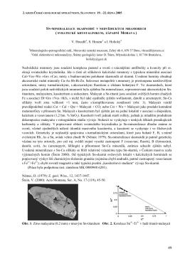 Sn-mineralizace skarnoidů v nedvědických mramorech