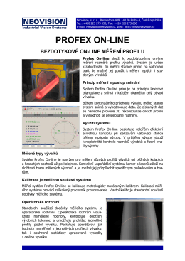 PROFEX ON-LINE - Neovision sro