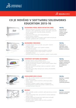 Novinky SolidWorks EDU 2015-2016