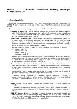 Příloha č.1 – technická specifikace kontroly