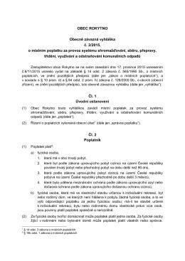 Veřejná vyhláška 2/2015