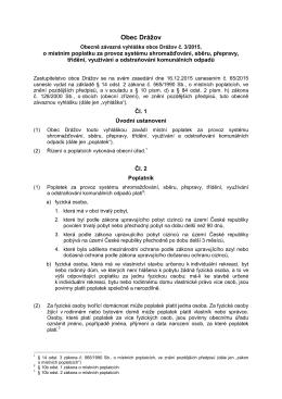 Vyhláška č. 3 o poplatku za odvoz odpadu