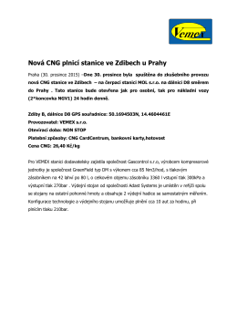 Nová CNG plnicí stanice ve Zdibech u Prahy