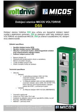 Dobíjecí stanice MICOS VOLTDRIVE DS5