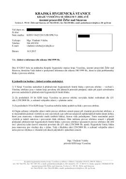 Informace 12/2015  - Krajská hygienická stanice kraje Vysočina