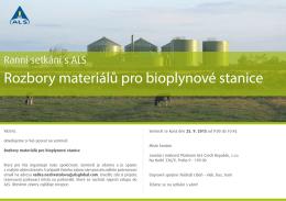 Rozbory materiálů pro bioplynové stanice