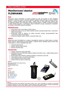 ADS monitorovací stanice Flowhawk