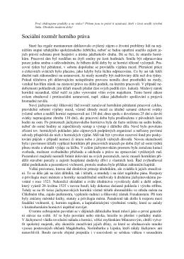 Sociální rozměr horního práva