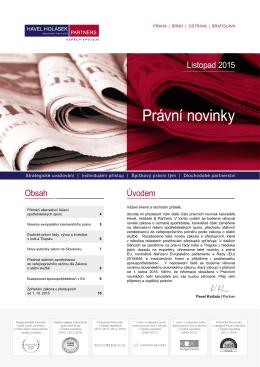 11-2015 Právní novinky - Havel, Holásek & Partners